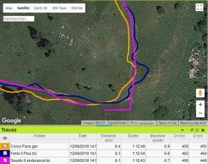 Suunto 9 trace GPS trail marche