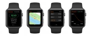 Apple Watch 4 running