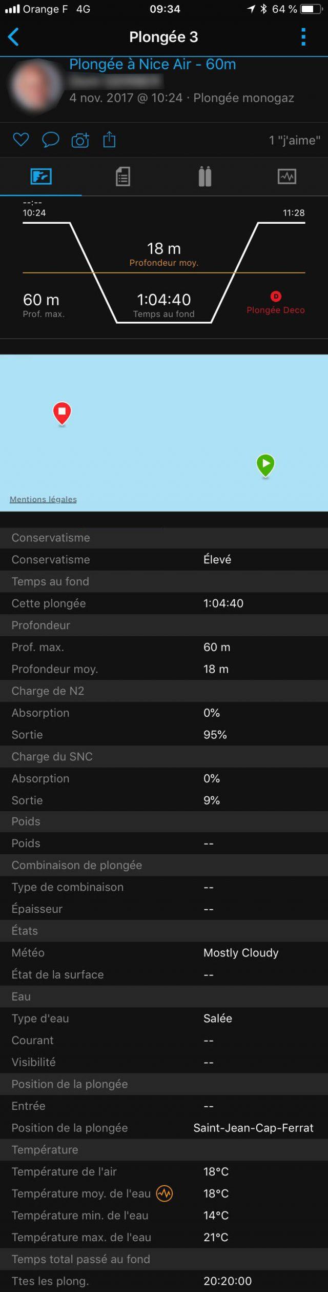 Descent MK1 données plongée