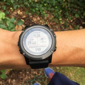 Fenix 5X Plus running