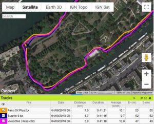 Trace GPS Fenix 5X Plus