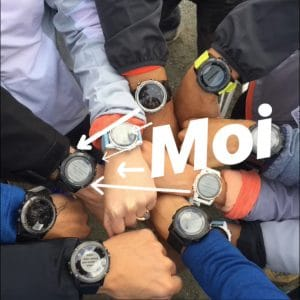 Influenceur montre GPS