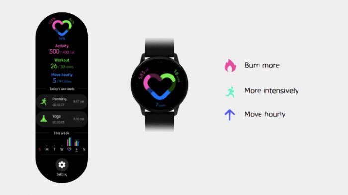 Application Samsung Galaxy Watch Active