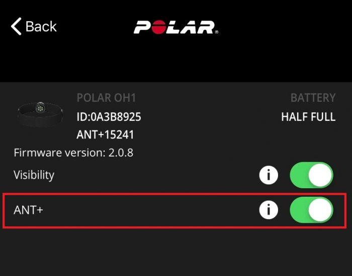 Polar OH1 ANT+