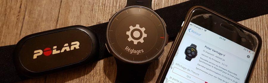 Configuration montre GPS