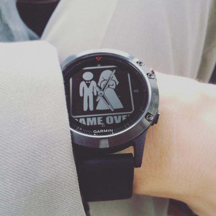 Fenix 5 watchface mariage