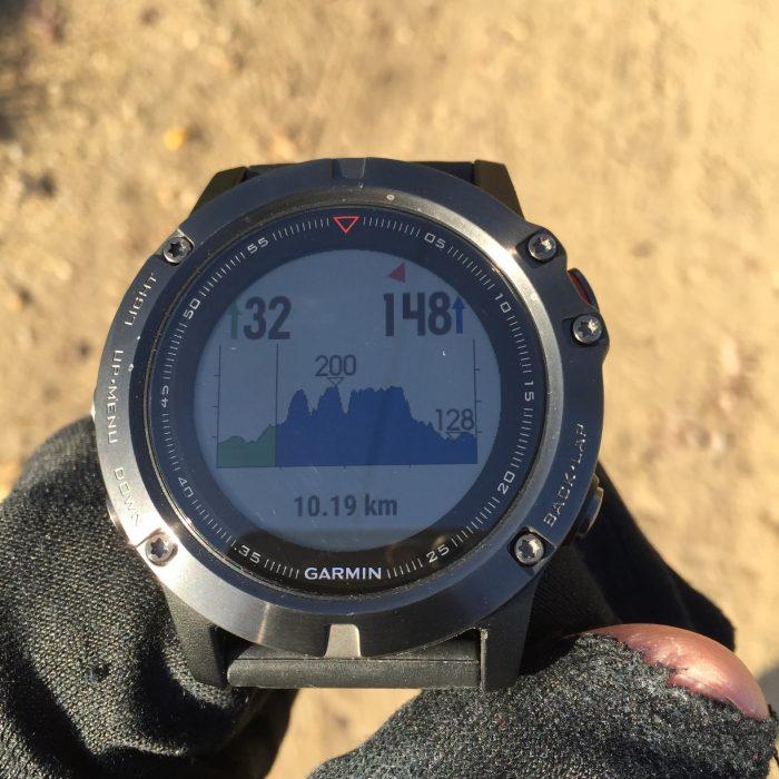 Fenix 5X profil d'altitude