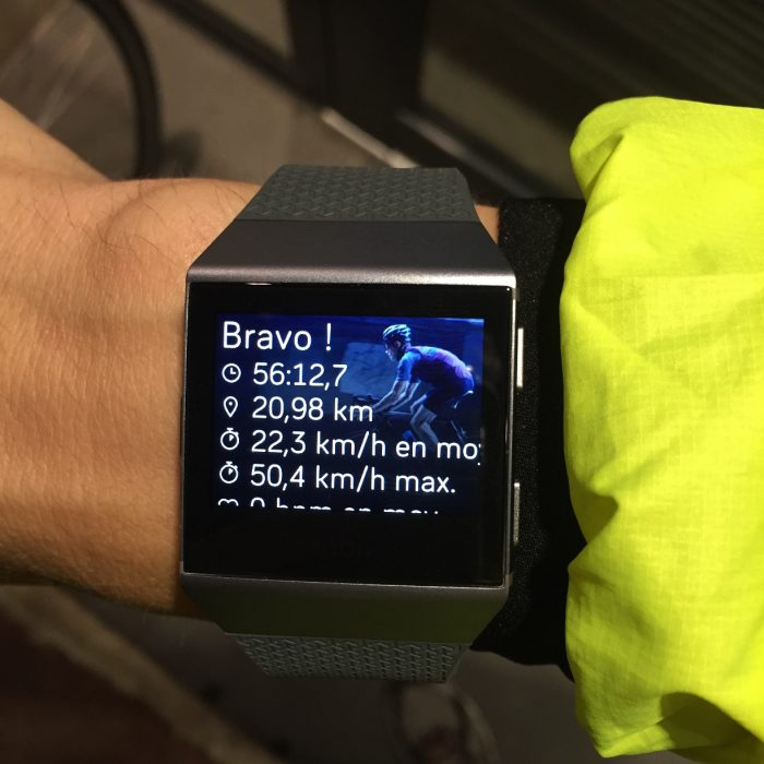 Fitbit Ionic vélo