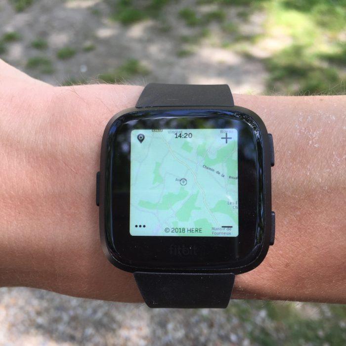 Fitbit Versa Google Map