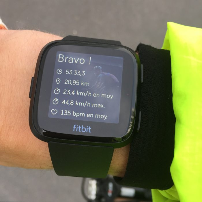 Fitbit Versa vélo