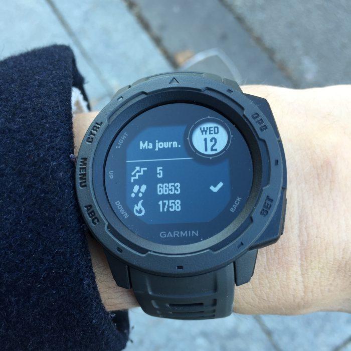 Garmin Instinct tracker activité