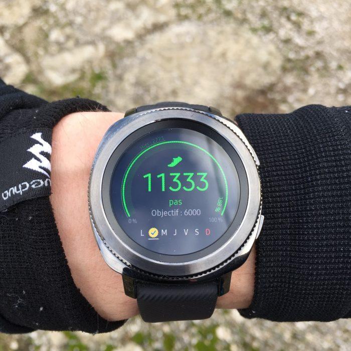 Samsung Gear Sport tracker activité