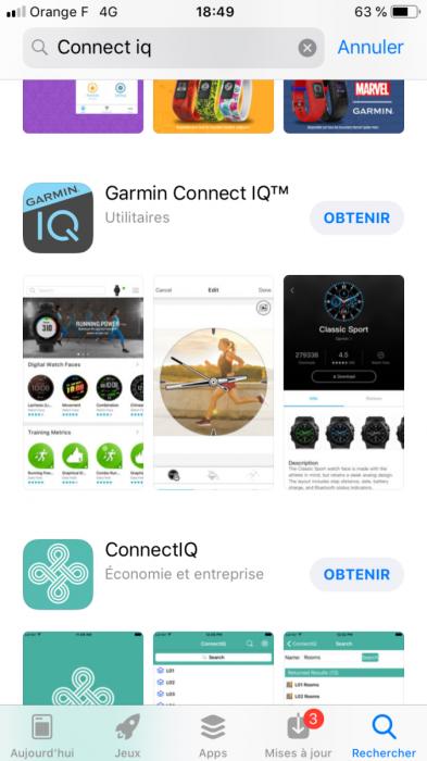 Télécharger Garmin Connect IQ