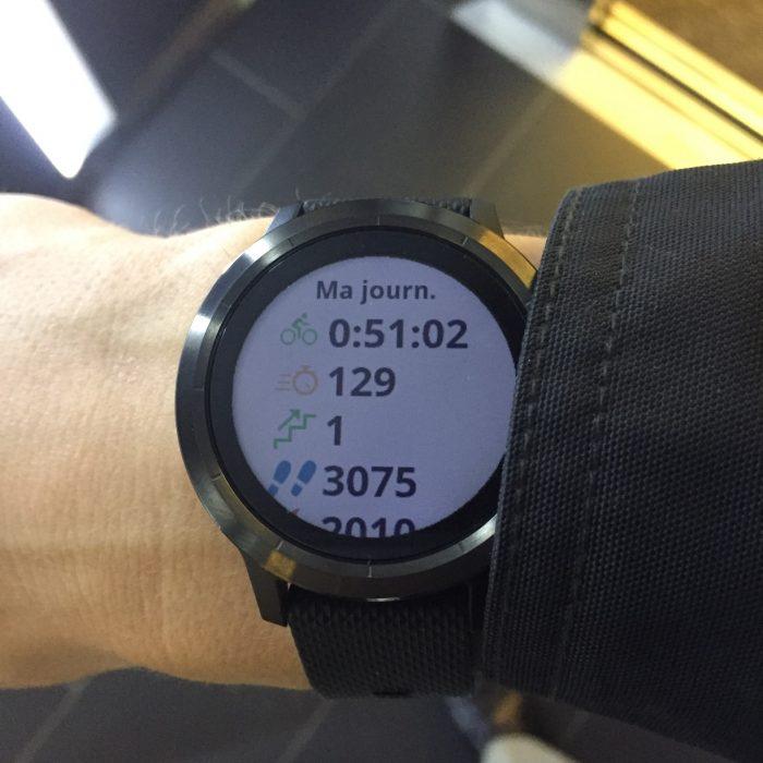 Vivoactive 3 tracker activité