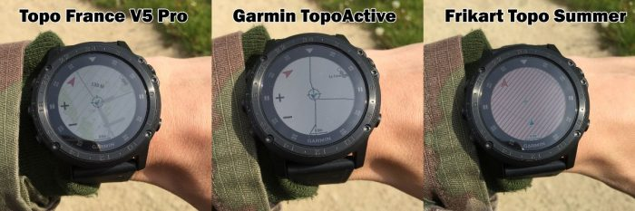 Comparaison carto Garmin
