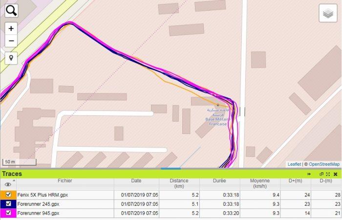 Trace GPS Forerunner 245