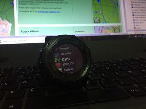 Carto montre GPS Garmin