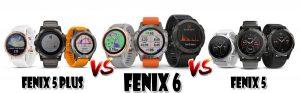 Comparaison Fenix 6 Fenix 5 plus Fenix 5