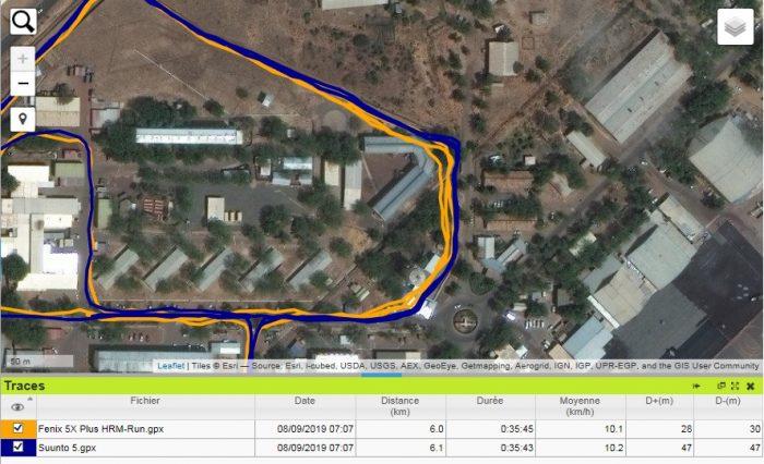 Trace GPS Suunto 5