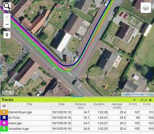 Trace GPS montre GPS