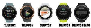 Comparaison montres GPS Suunto