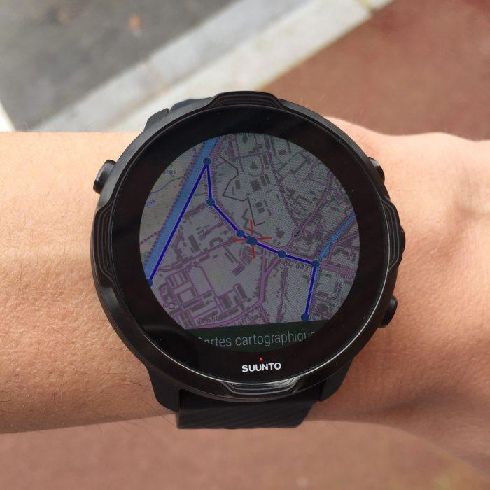 Suunto 7 cartographie