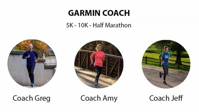 Garmin coach choix