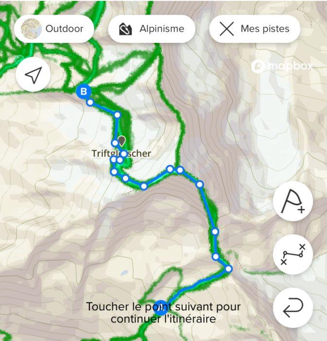 Carte de chaleur Suunto alpinisme