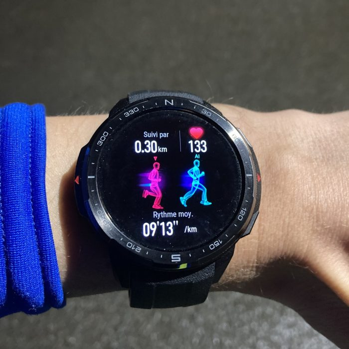 Honor Watch GS Pro running