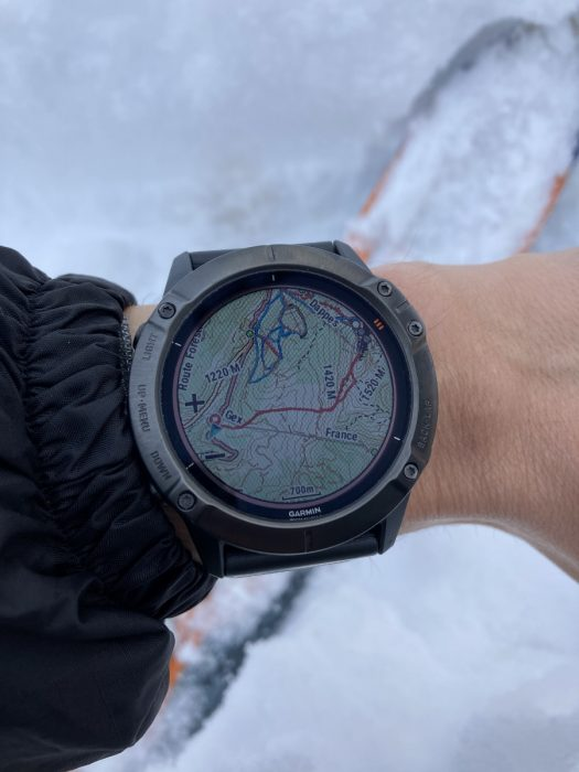Garmin Fenix 6 ski alpin