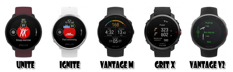 Comparaison montres GPS Polar