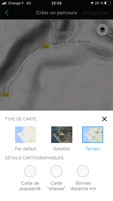 Appli Garmin Connect chasse 1