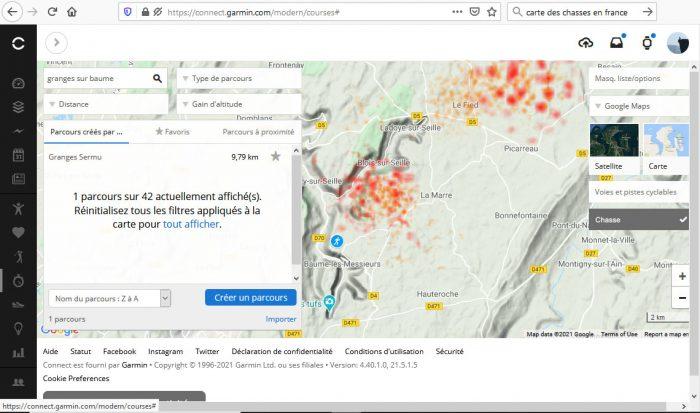 Heatmap chasse 1