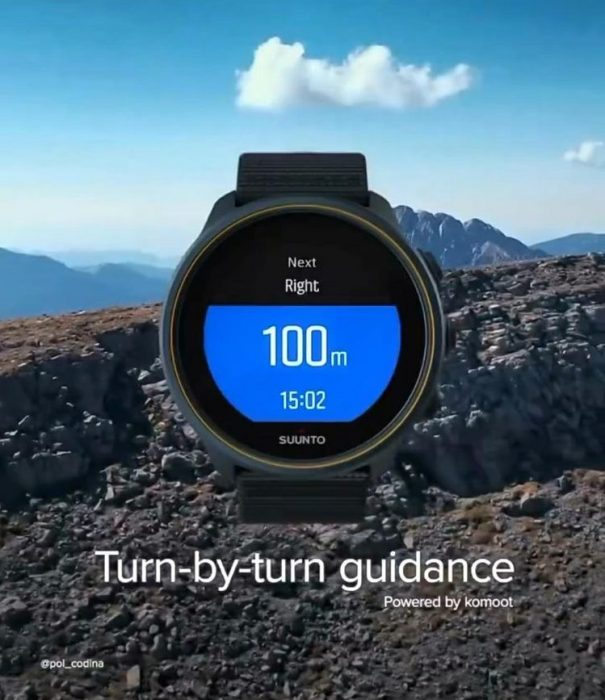 Suunto turn by turn