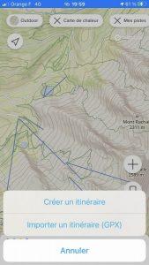 Itinéraire Suunto 5