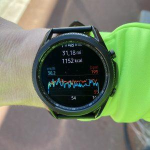 Galaxy Watch 3 running
