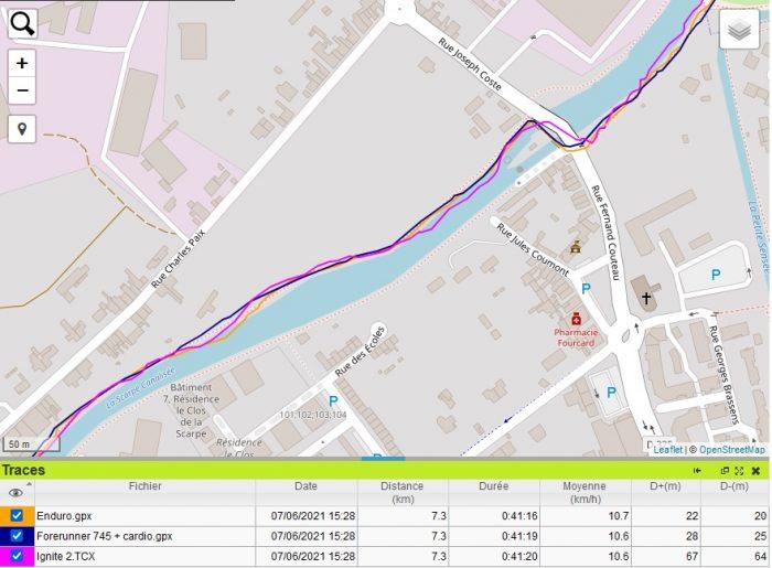 Trace GPS Scarpe