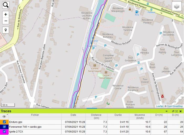 Trace GPS Scarpe Ignite 2