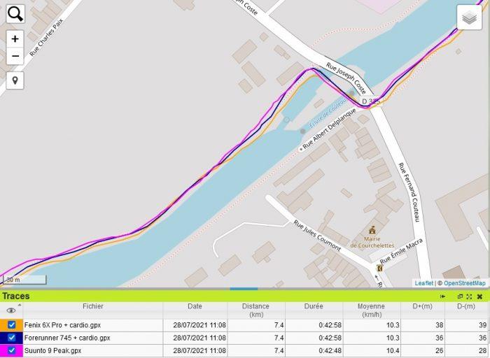 Suunto 9 Peak trace GPS canal
