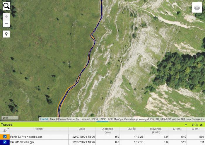 Suunto 9 Peak trace GPS crète