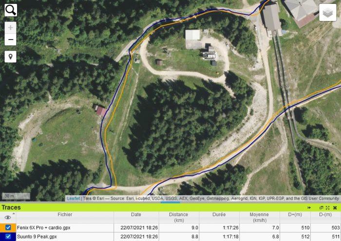 Suunto 9 Peak trace GPS montagne
