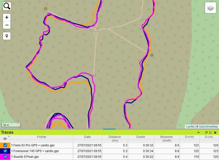 Suunto 9 Peak trace GPS terril