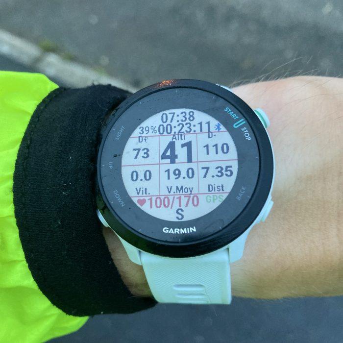 Forerunner 55 running