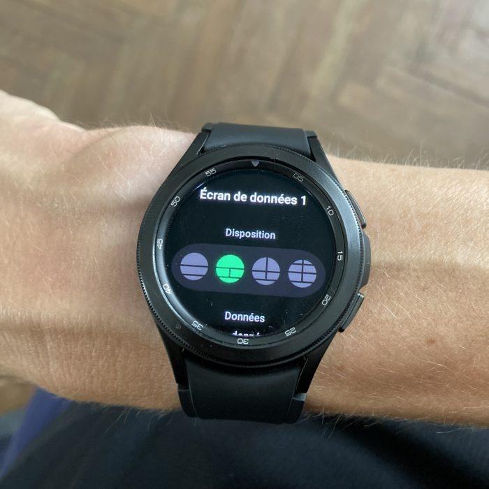 Galaxy Watch 4 champ donnée